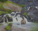 Grizzly at Red Rock Falls (thumbnail)
