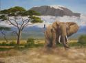 Elephant at Kilimanjaro (thumbnail)