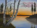 Birches at Sunrise (thumbnail)