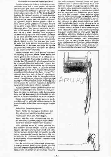 "The illustration for the magazine ""Duvar""-""The Wall"" March-April 2012 issue-'The Floating Chair' with a part of the article of Peri Ozturk ""Ne kadar sert o kadar reyting"""