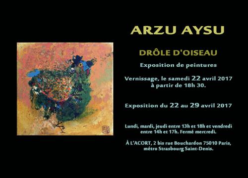 """2017 L'Exposition """"Drôle d'Oiseau"""" / Paris, FRANCE"""