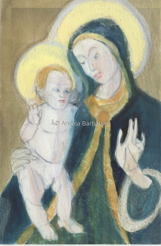 Study of Our Lady and Child (Trade Book) Timeless Rosary