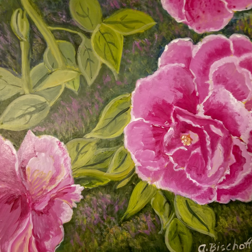 Pink Roses by Anita Bischoff
