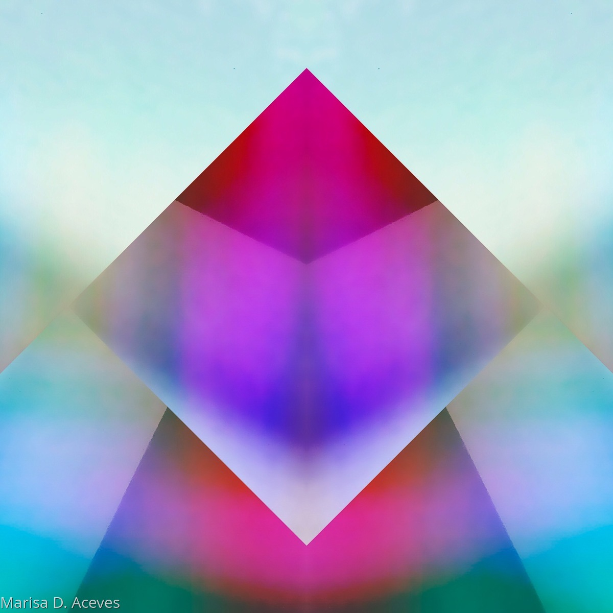 GEOMETRIC COLOR FIELD ABSTRACT ART: DIAMOND PRISM  (large view)