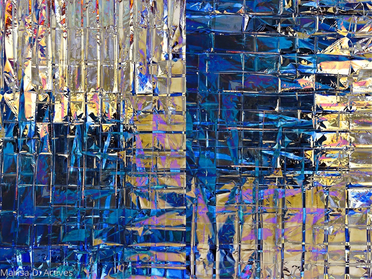 ABSTRACT EXPRESSIONIST ART: TITIAN BLUE L COMPOSITION  (large view)