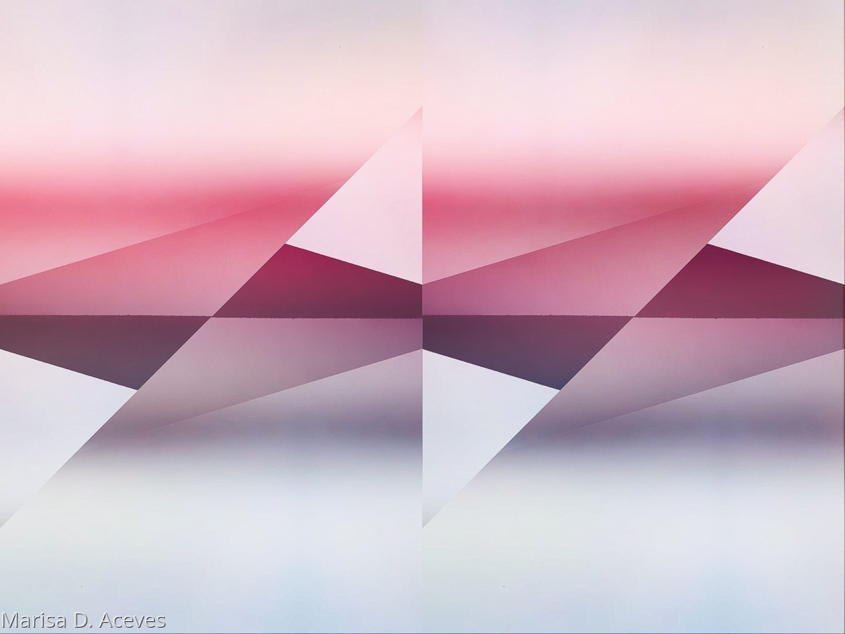 GEOMETRIC ABSTRACT ART: ATMOSPHERIC V TWIST (large view)
