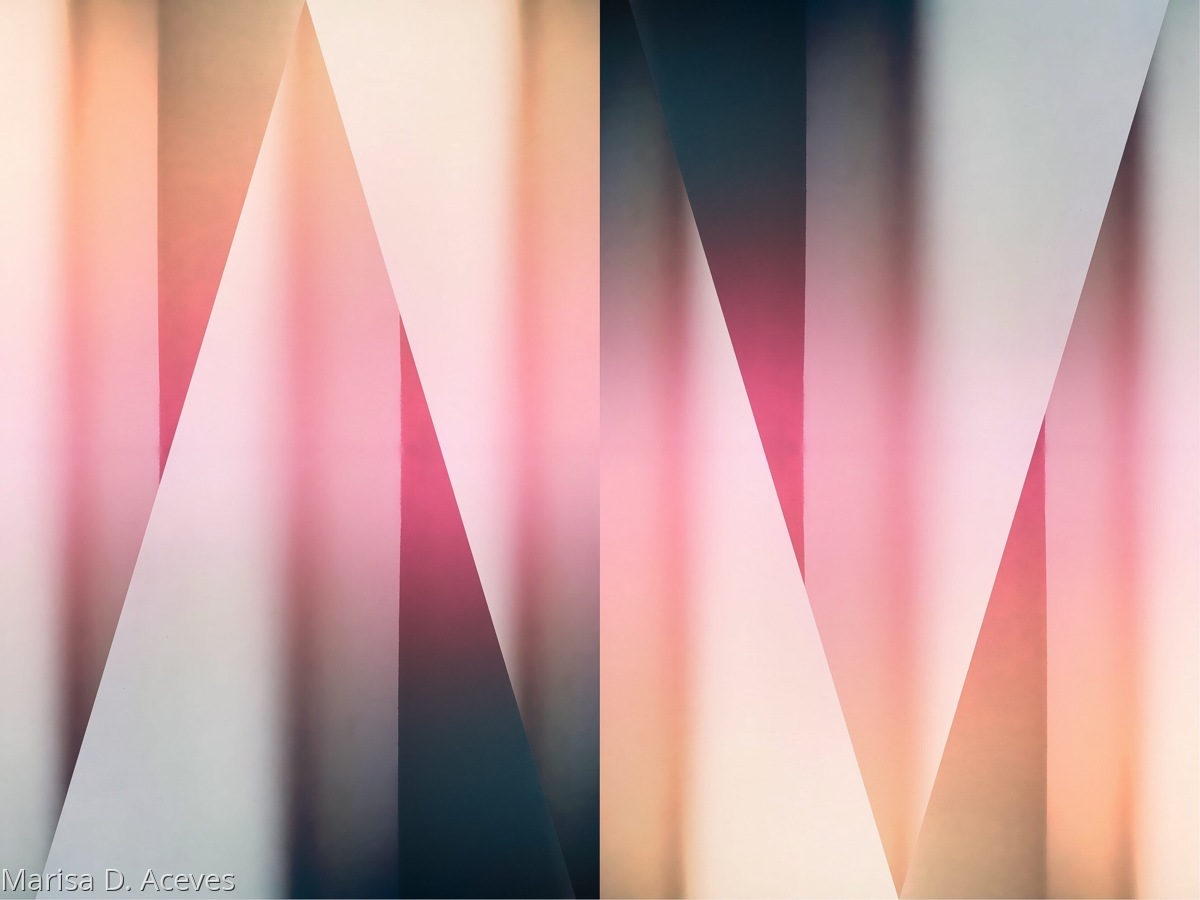 GEOMETRIC ABSTRACT ART: MENDING FENCES (large view)