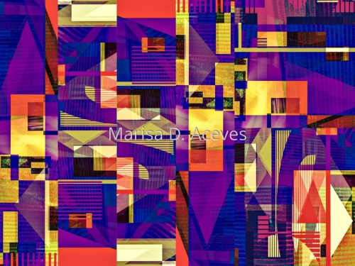 Vociferous Violet Cyber Cityscape