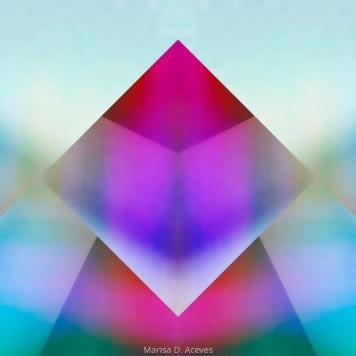 GEOMETRIC COLOR FIELD ABSTRACT ART: DIAMOND PRISM