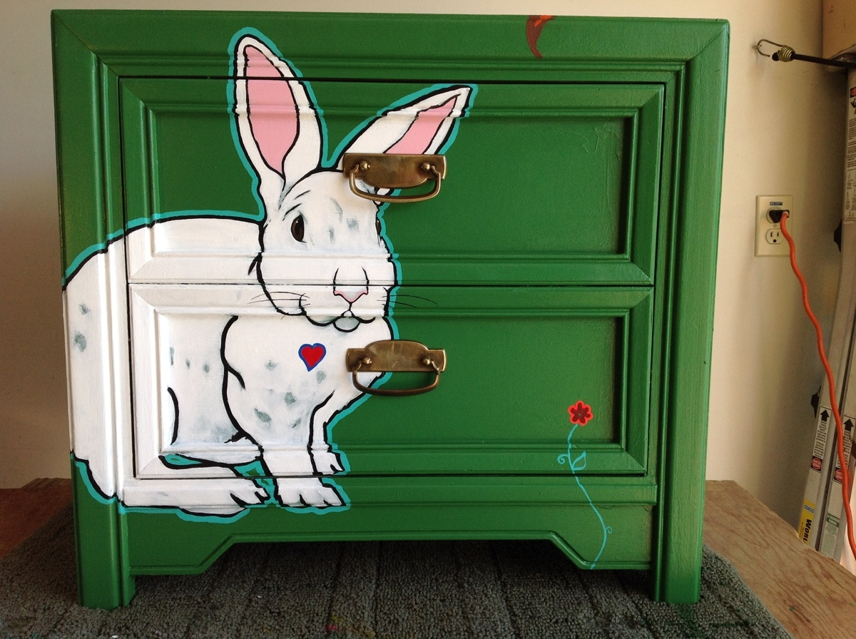Bunny Chest Painting  (large view)