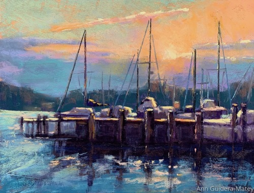 Sunset at the Landing by Ann Guidera-Matey