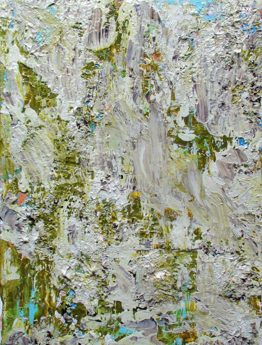 """Lichen, 9"""" x 12"""" acrylic on canvas (large view)"""