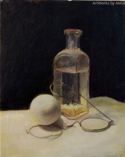 Antique Bottle and the egg