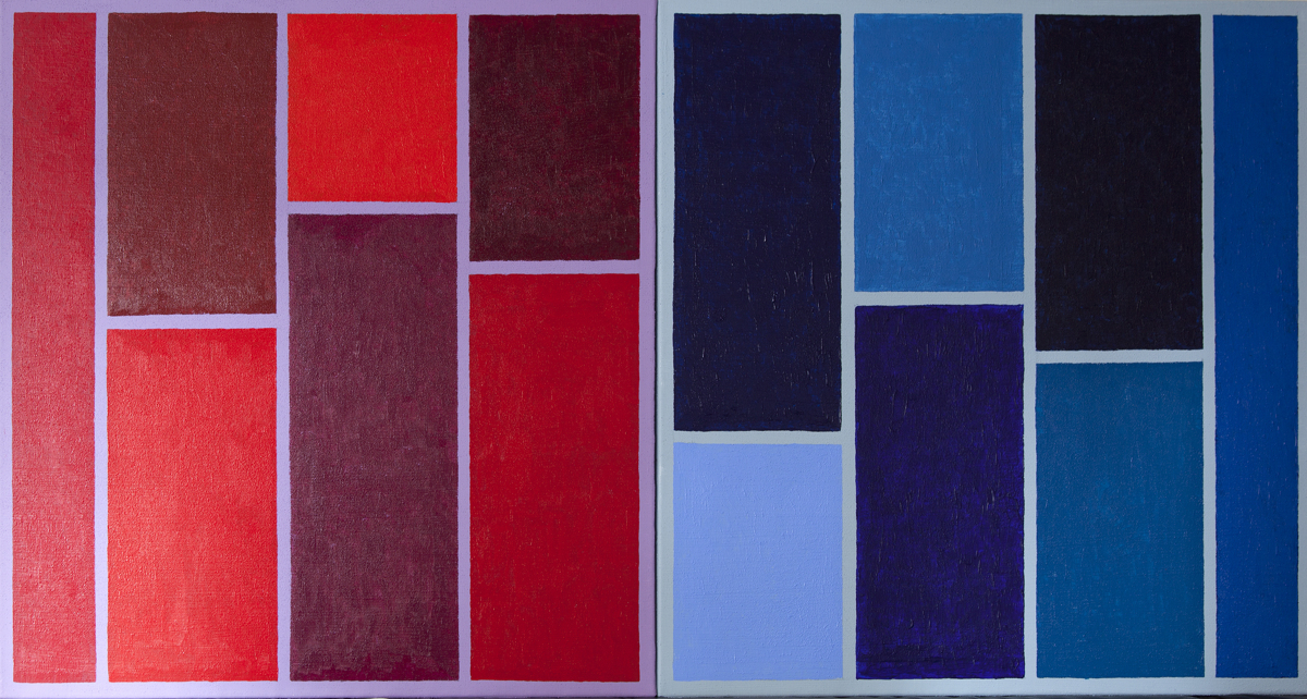 Monochromatic compositions Red/Blued (large view)