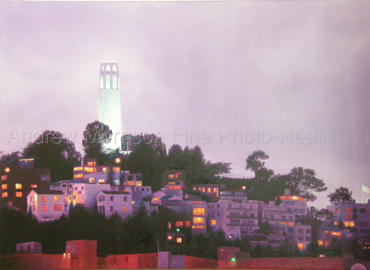 Evening Glow, Telegraph Hill (original not for sale) (large view)