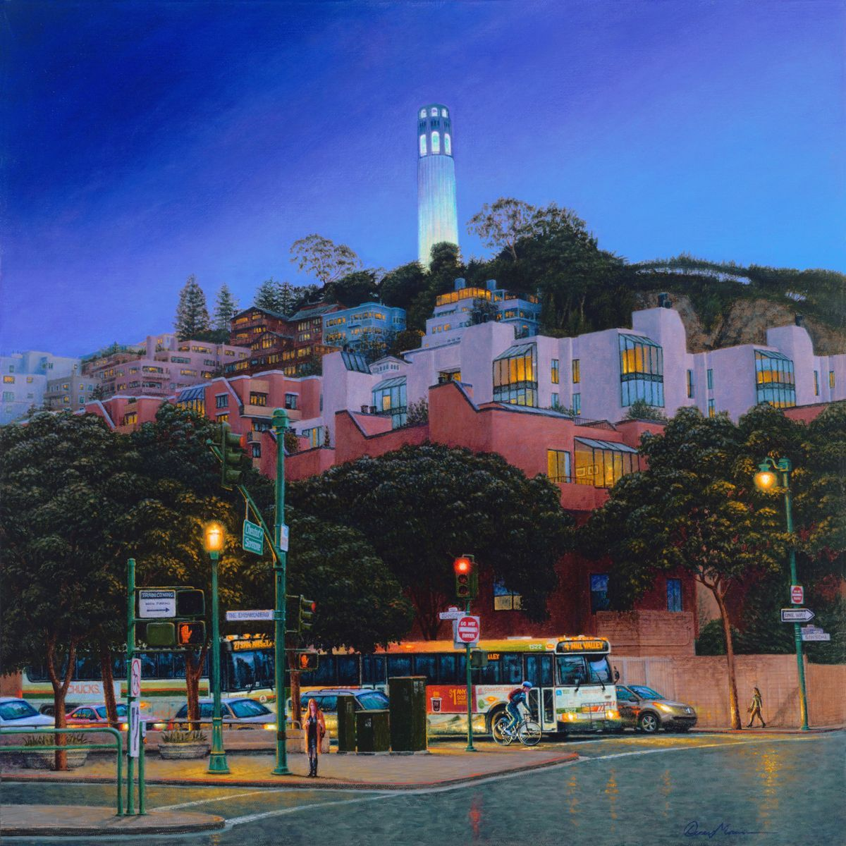 Tranquil Twilight, Telegraph Hill (large view)