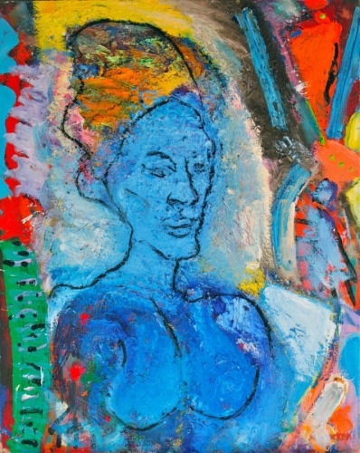 Blue Woman by Alan Stecker