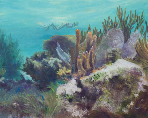Snorkeling at Riviera Maya by Annette Alessi Fine Art