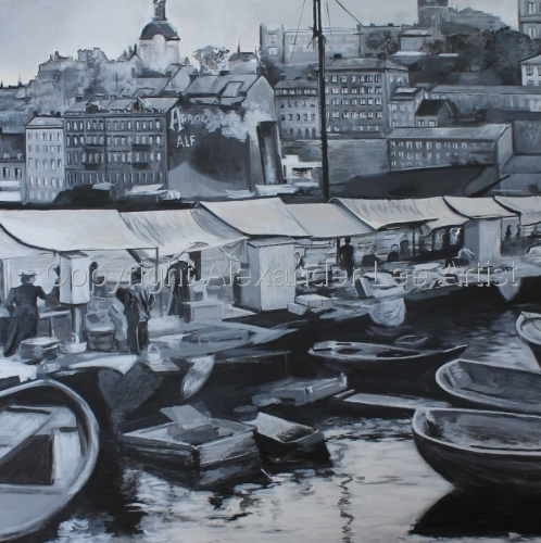 Old Stockholm by Alexander Lee Artist