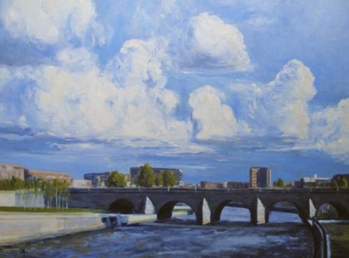 """""""Rio Manzanares, Madrid"""" by Alexander Taylor"""