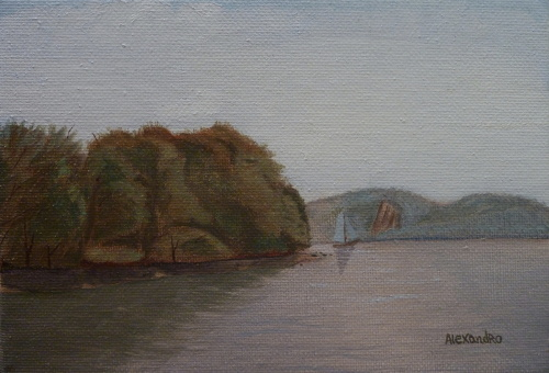 Late Summer Through the Hudson River from Croton Point State Park