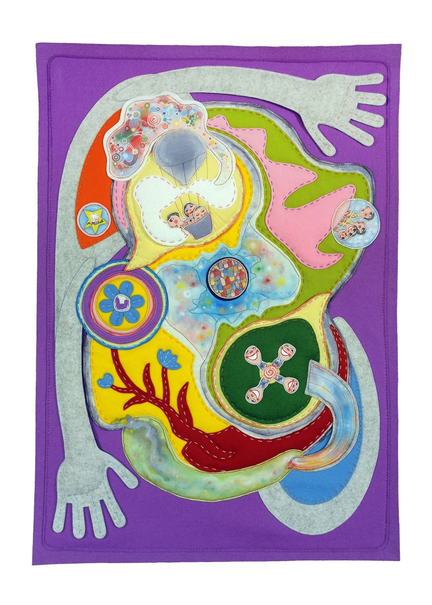 TOGETHER, Fabric Wall Hanging (large view)