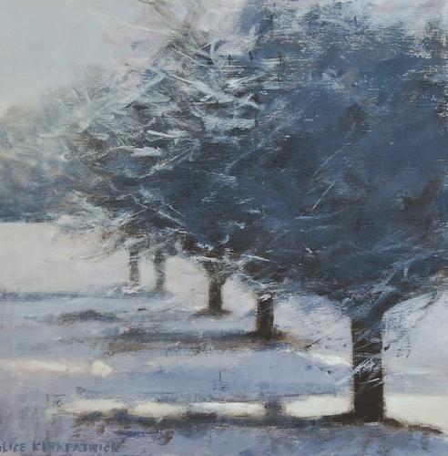 Orchard in Winter 1 by Alice Kirkpatrick