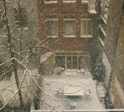Snowstorm: Rozengracht by Alison Chambers RBSA
