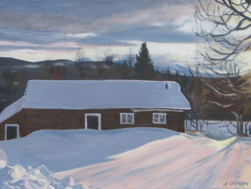 Barn: Northern Sweden by Alison Chambers RBSA
