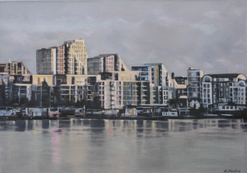Winter Light: Putney by Alison Chambers RBSA