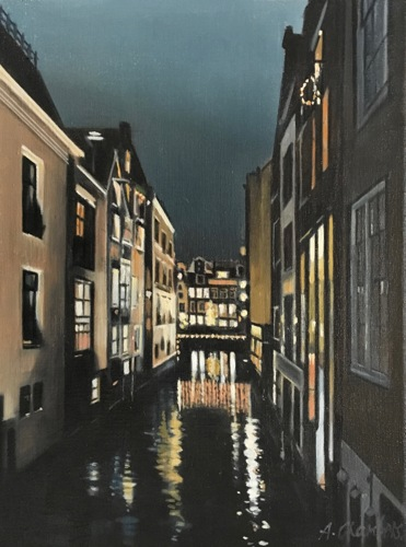 Beulingsloot at Night: Amsterdam