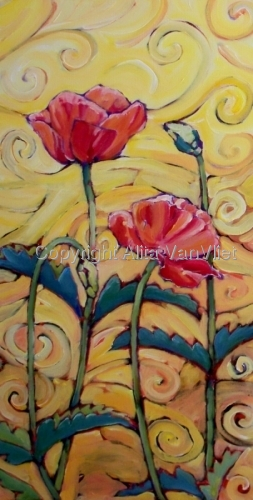 Red Poppies and Warm Breezes #1