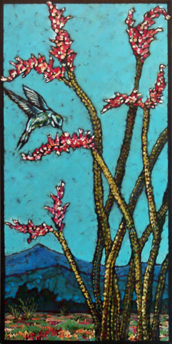 High Desert Hummingbird and Ocotillo