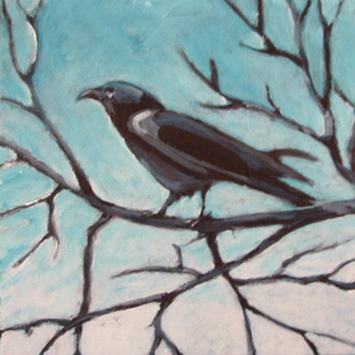 Raven in a Tree #1 by Alita VanVliet