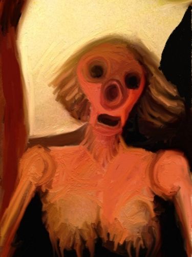 explosed bone, straw hair and breasts, pig nose (large view)
