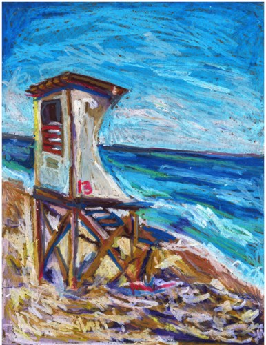 Wrightsville Beach by Lolly Bird's Art (by Anna)