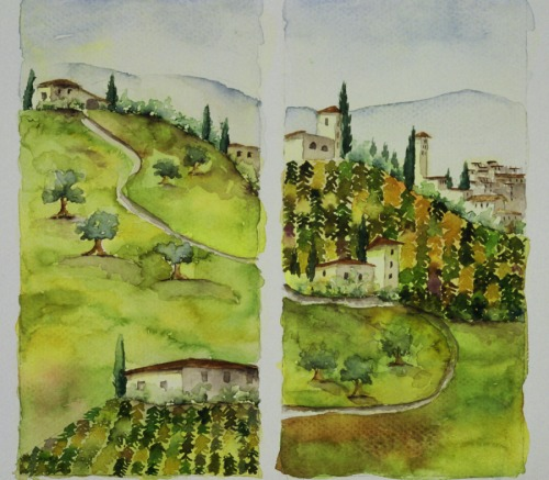 Diptych Tuscany (large view)