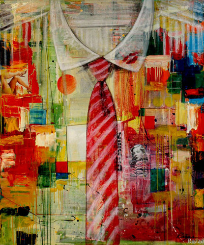 Red Tie Melodrama-SOLD