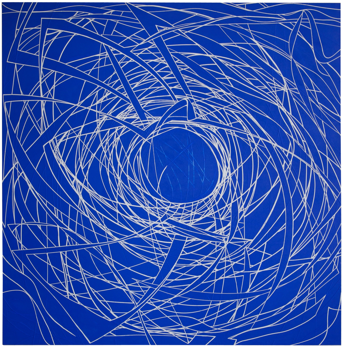 White Sprial on Blue (large view)