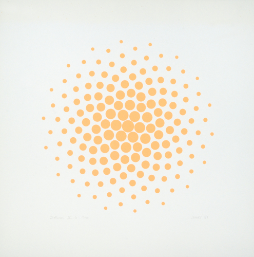 Diffusion IV, Orange by Anne Kesler Shields, 1932 - 2012