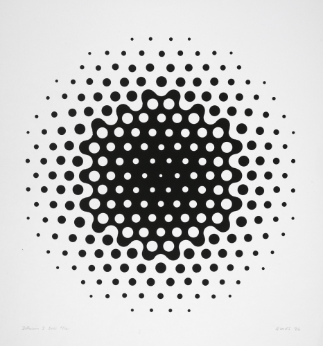 Diffusion I, B&W by Anne Kesler Shields, 1932 - 2012