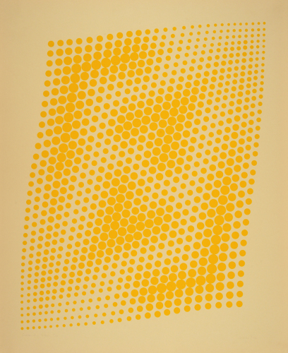 Curve VI, Yellow. by Anne Kesler Shields, 1932 - 2012