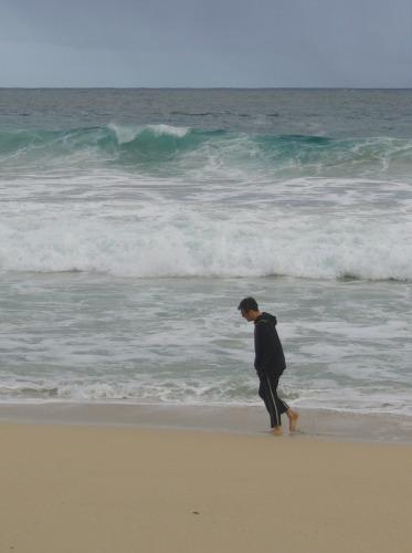 A walk on the beach II by amy oestlund