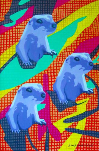 Prairie Dogs by Inez Andrucyk Artist