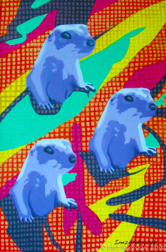 Prairie Dogs by Inez Andrucyk