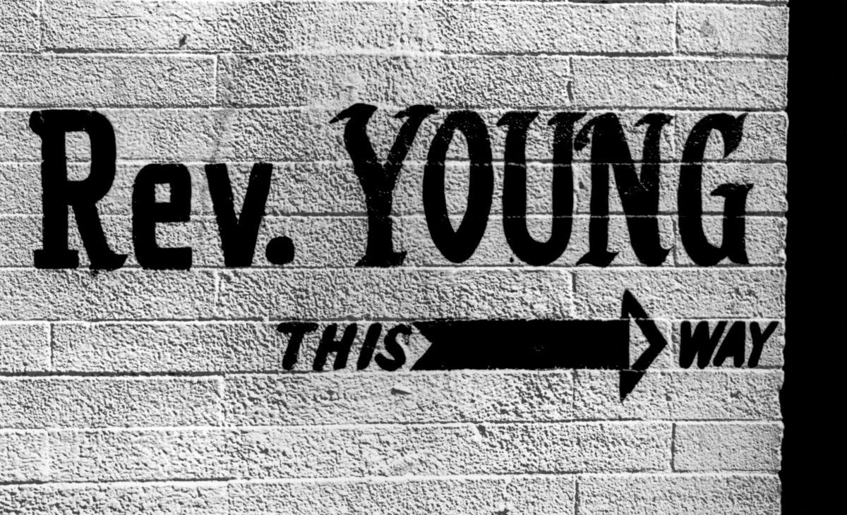 Rev. Young Sign, Harlem NY (large view)