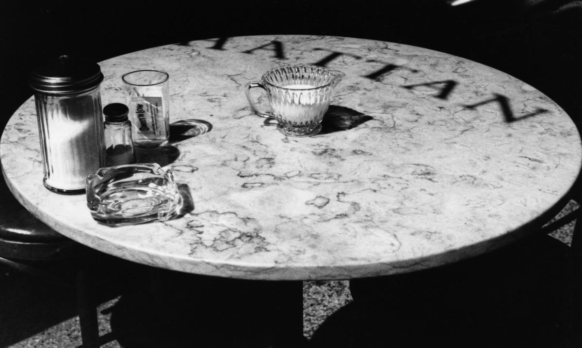 Manhattan Bistro Table, Soho N.Y.C. (large view)
