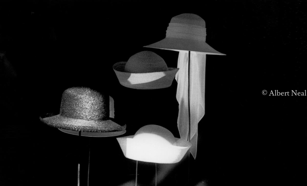 Smith's Hats in Window,  Soho,  N.Y.C. (large view)