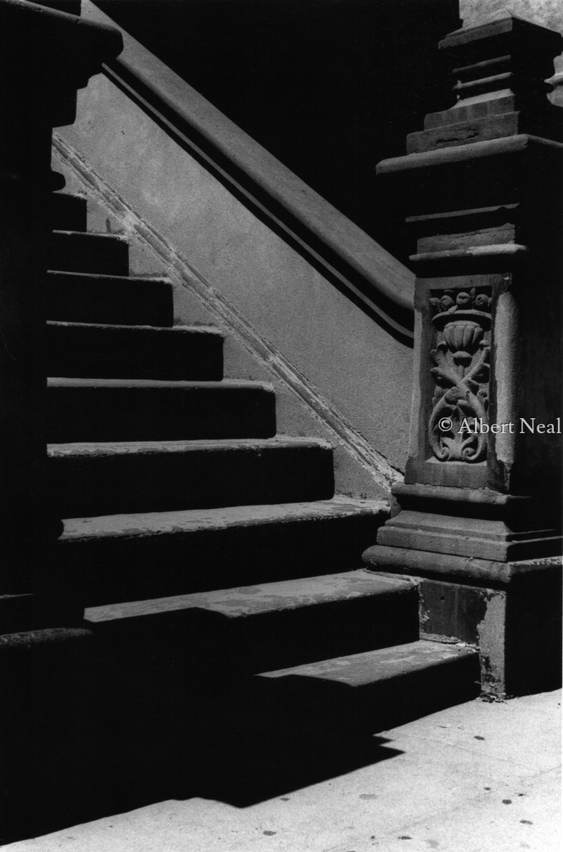 Brownstone Steps,  Harlem  N.Y.C. (large view)