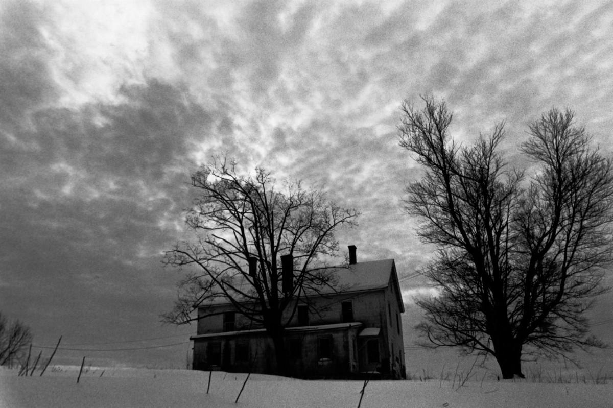 Winter Storm passing at Vassar Farms,  Poughkeepsie, N.Y. (large view)